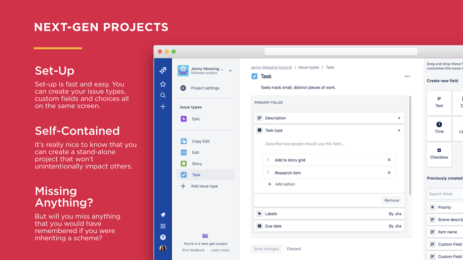 Jira Next-gen Projects