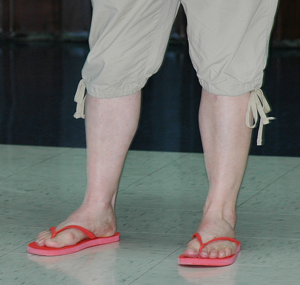 Christine Long wears flip flops on her last day at KMC Systems