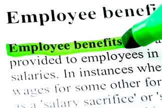 Picture of the Words Employee Benefits Highlighted in Green