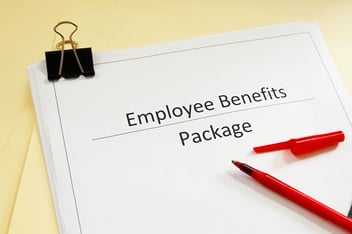 Picture of Paper on Which is Written the Words Employee Benefits