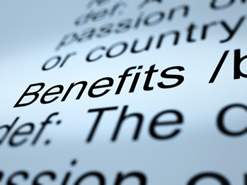 A Picture Focused on the Word Benefits