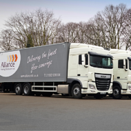 Enterprise Flex-E-Rent rolls out four new trucks for Alliance Flooring