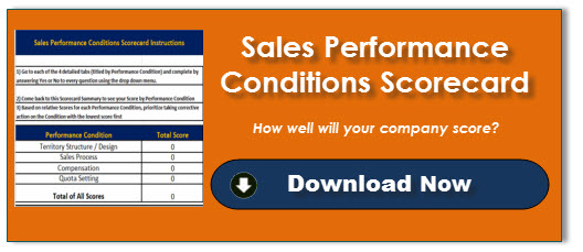 Sales Performance Conditions Scorecard