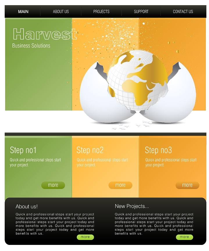 website template ideas