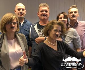 Filmolux team Movember actie 2018