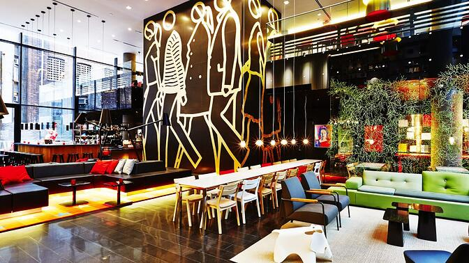 "citizenM New York Times Square Hotel - ""become a citizen"" loyalty program"