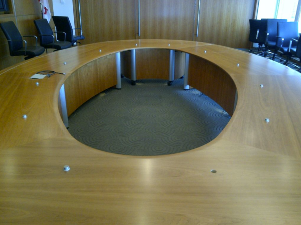 Microphone Installation on Round Table