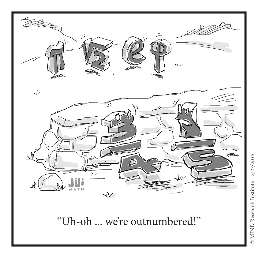 rational vs irrational numbers cartoon