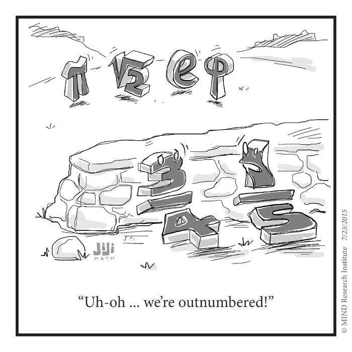 Off the Number Line: Rational Vs. Irrational Numbers Cartoon