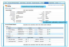 Set up editable related lists on Salesforce record detail pages