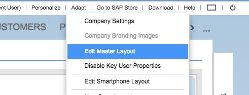 Edit Master Layout