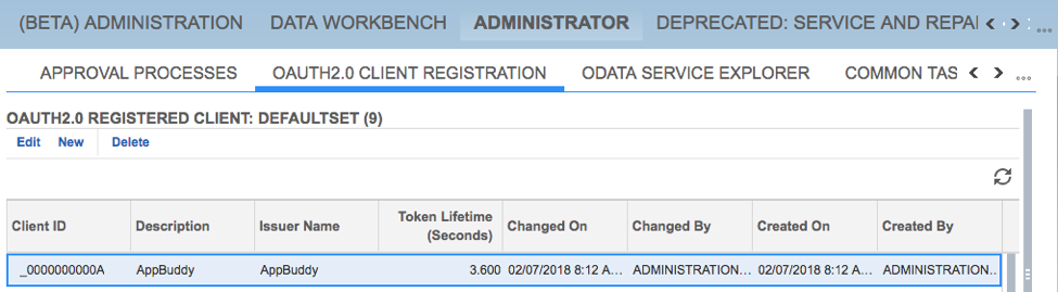 SSO and OAuth 2.0 Client Registration5