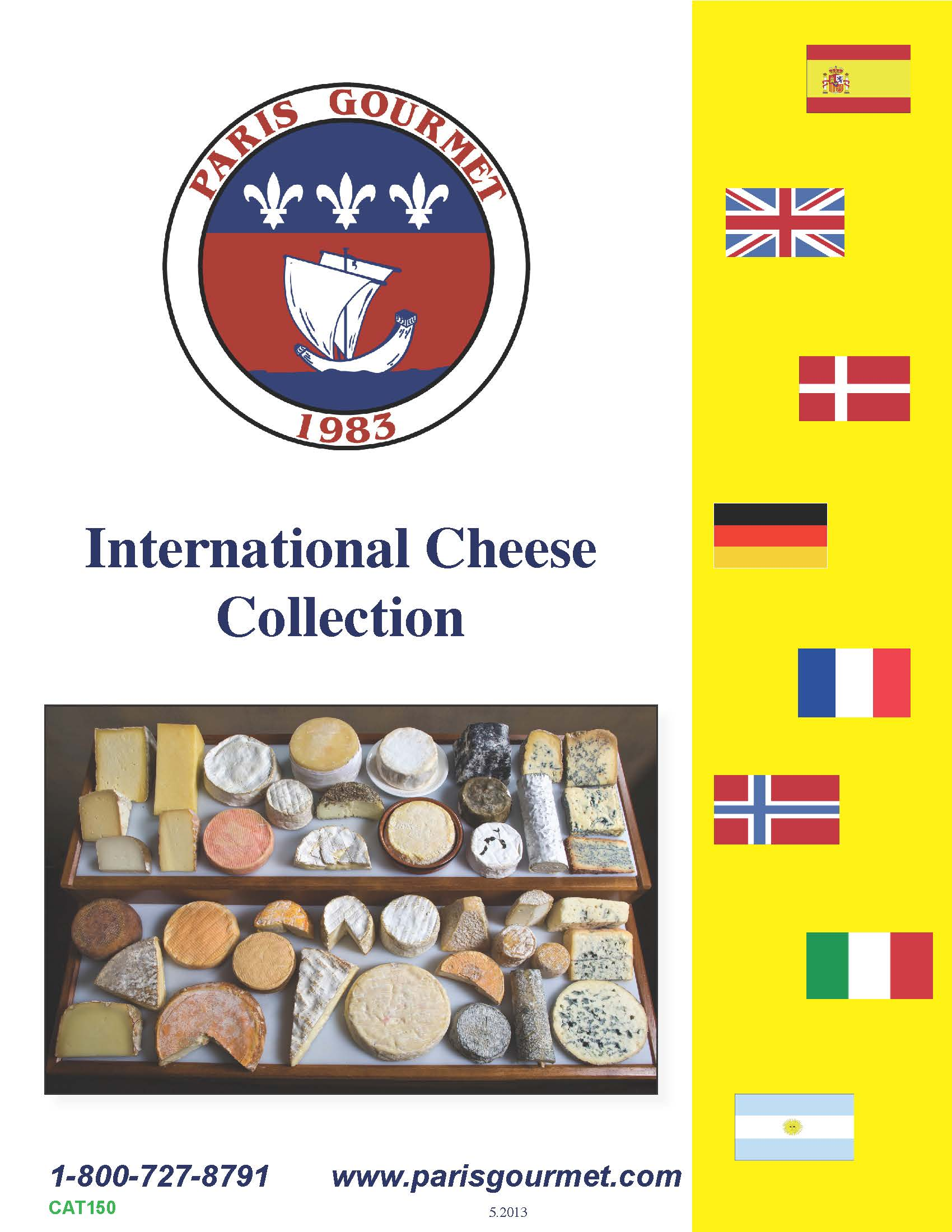 Download our international cheese collection brochure for International collection