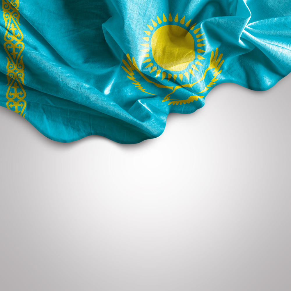 Waving flag of Kazakhstan, Africa