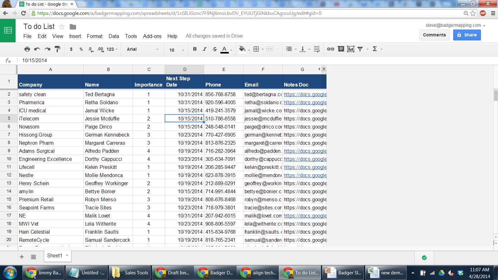 task list excel