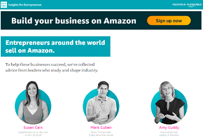A new microsite by the Amazon Marketplace curates short form video and written content from business leaders, along with links to products to buy on Amazon which have been curated by the influencer.