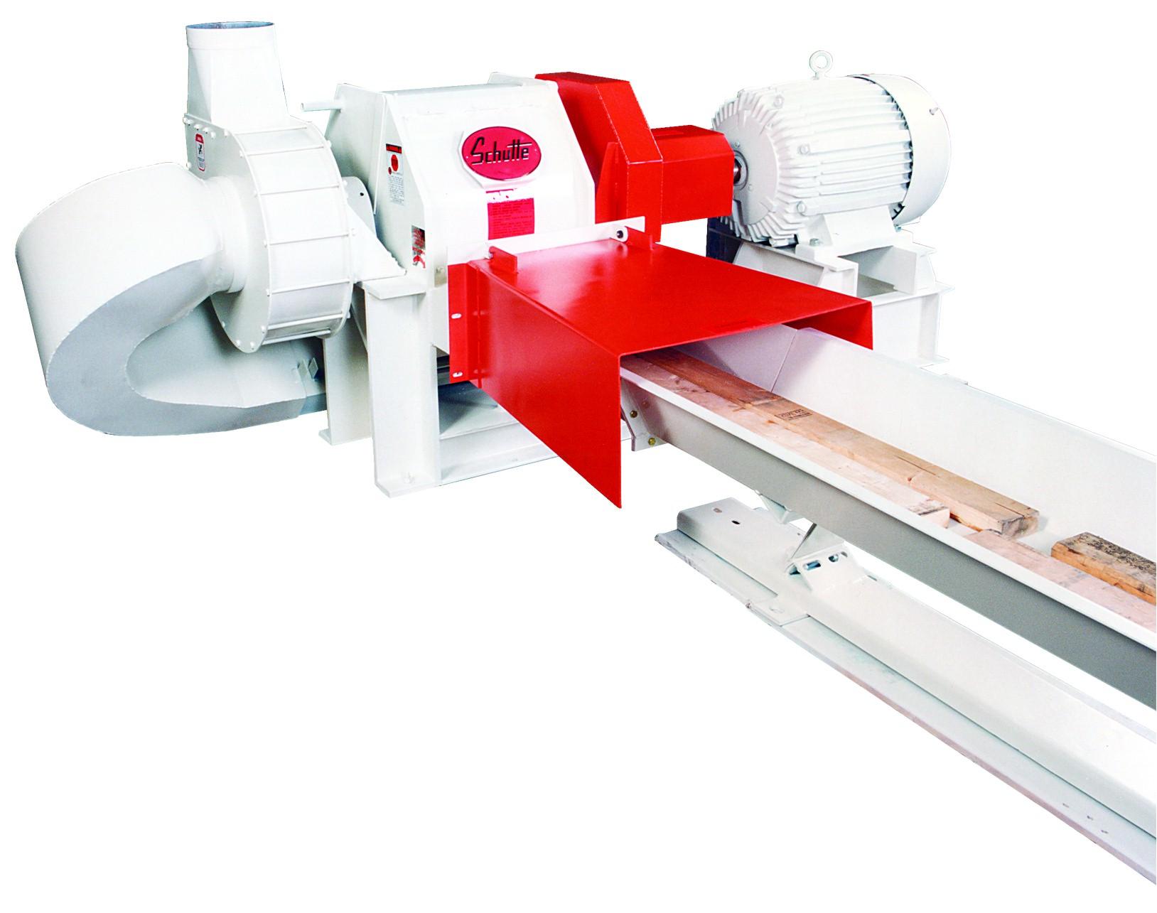 horizontal trim scrap grinder