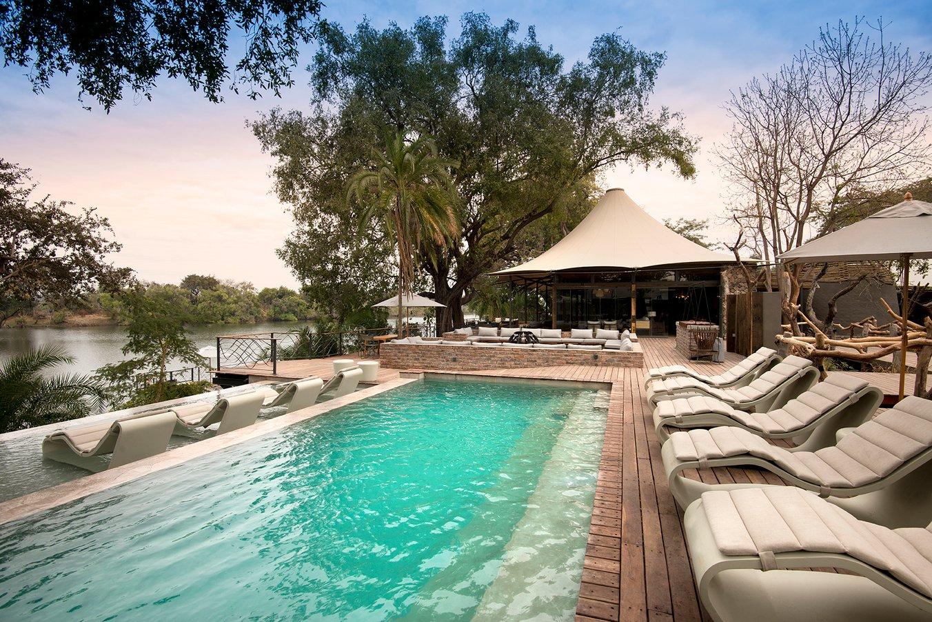 Thorntree River Lodge Livingstone Zambia African Bush Camps Luxury Safari Lodge (100) Pool Area