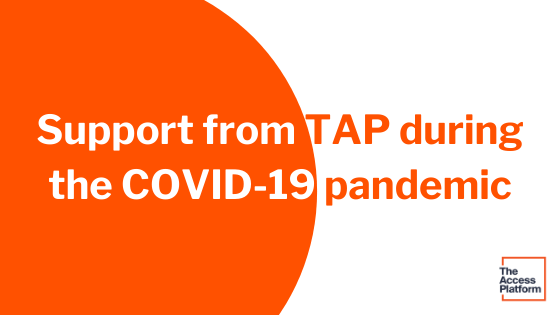 Using TAP during the COVID-19 pandemic: an offer of support