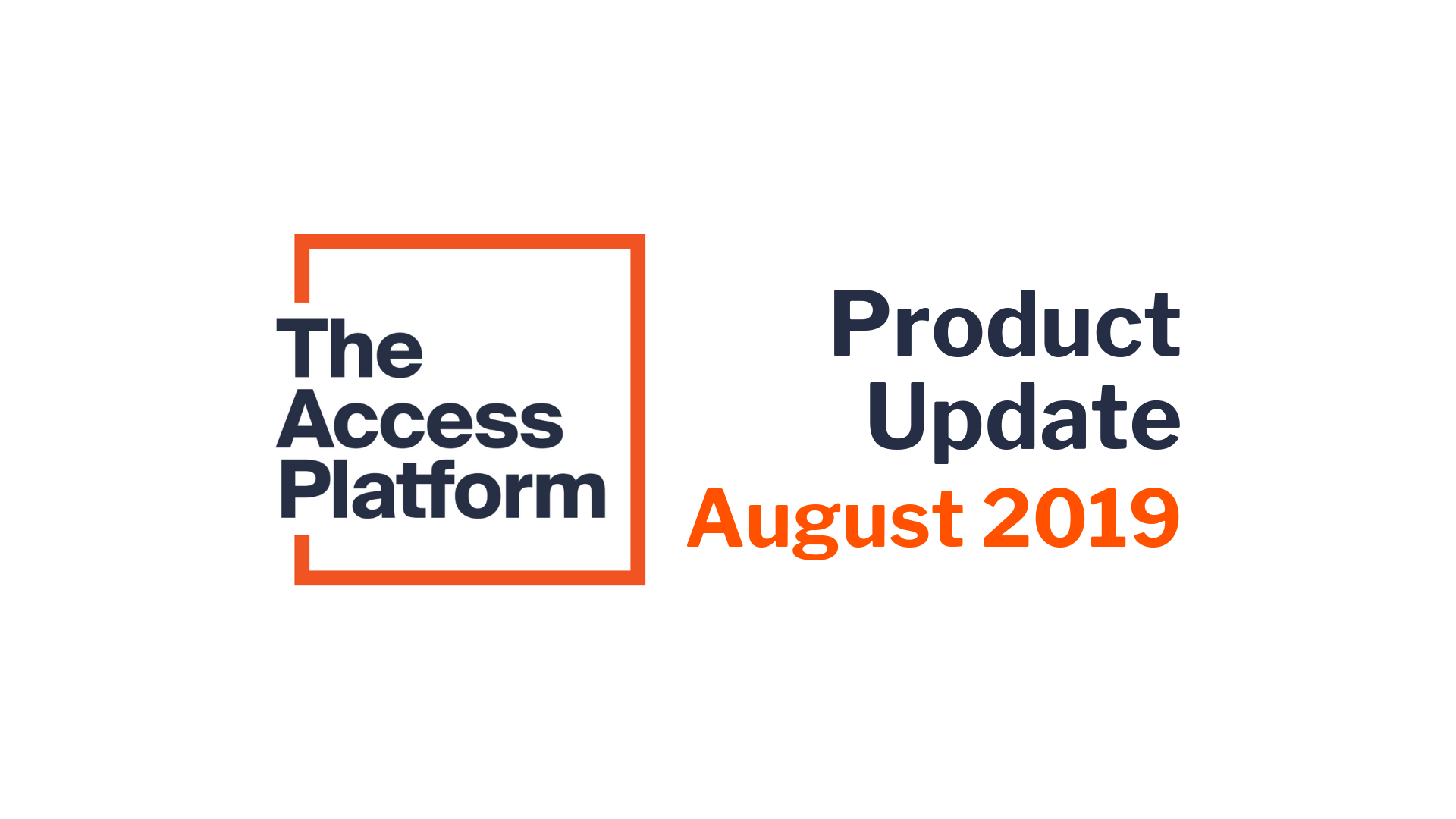 What's new? August 2019