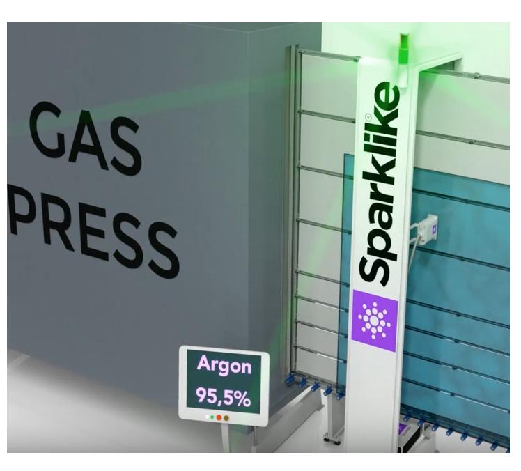 Animation of Sparklike Laser Online™ device's operating principle