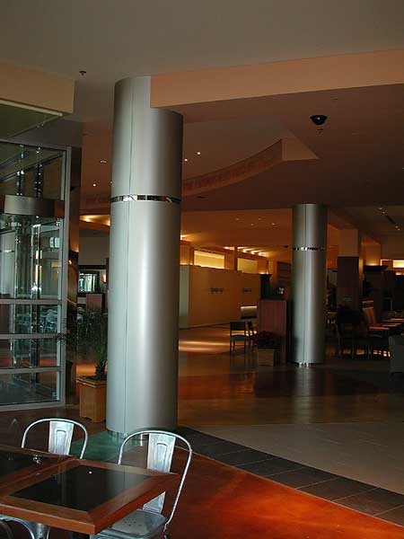 Architectural Column Covers : Decorative metal stainless steel column covers with