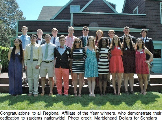 Scholarship recipients from Marblehead Dollars for Scholars