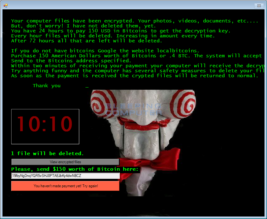 Jigsaw Ransomware | KnowBe4