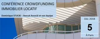 Conférence sur le crowdfunding immobilier