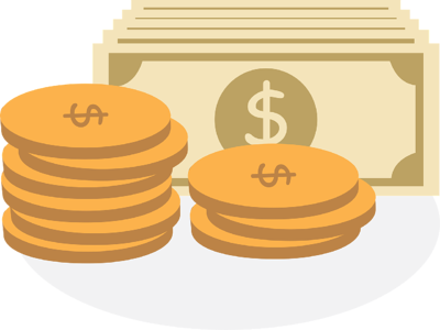 coins money debt