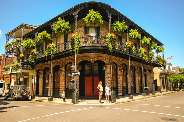 New Orleans French Quarter building