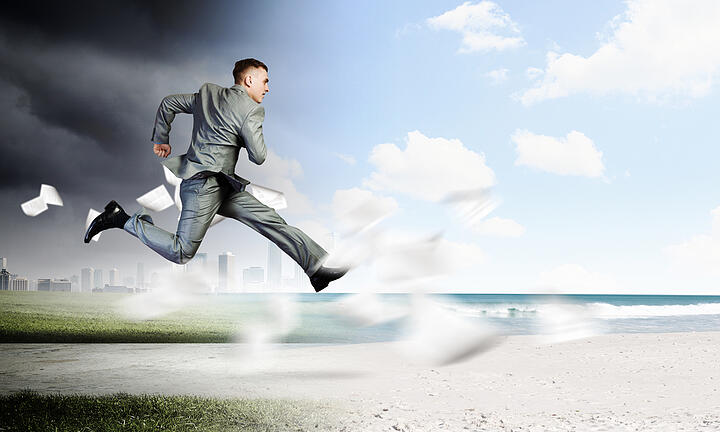 running to a new job? or away from a current job?