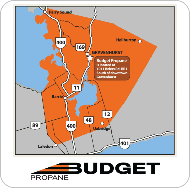 Budget Propane Ontario Delivery Area