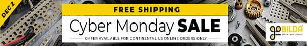 goBILDA Cyber Monday Sale