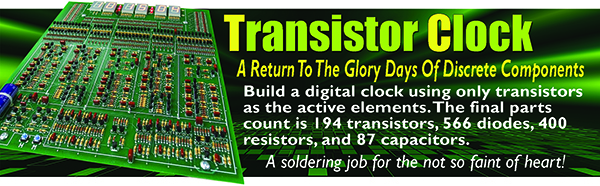 The Transistor Clock - Return to the glory days of discrete components