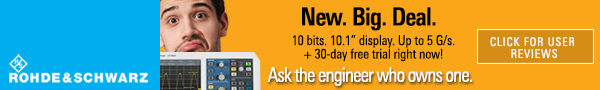 Rohde & Schwartz - New. Big. Deal. - Ask the engineer who owns one.