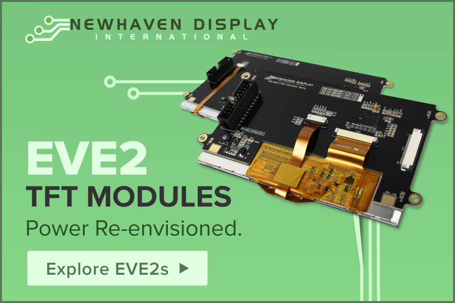 Newhaven Display's New EVE2 TFT Modules: Power, Re-envisioned.
