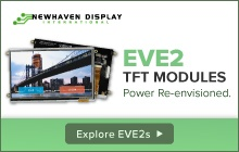 Power Re-envisioned with new EVE2 TFT Modules from Newhaven Display