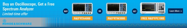 Rohde and Schwartz - Buy an Oscilloscope, Get A Free Spectrum Analyzer