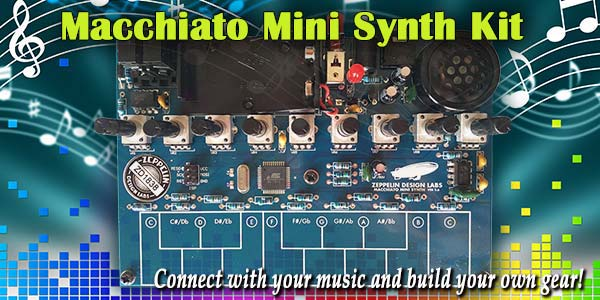 Macchiato Mini Synth - Connect with your music and build your own gear!