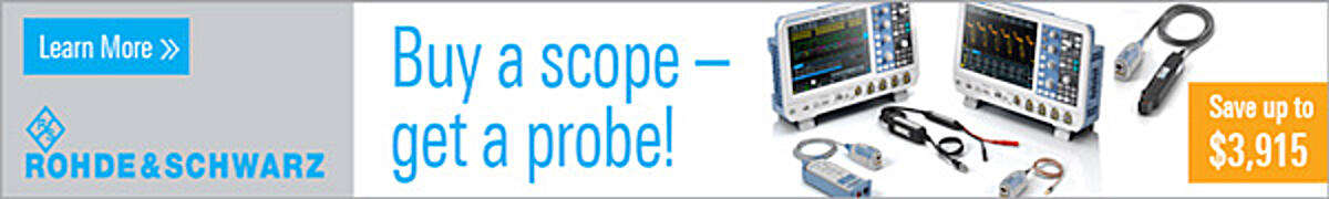 Rohde & Schwartz - Buy a scope - get a probe!