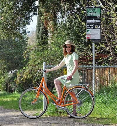 Three Creeks Trail - Cyclist - L-Ames - 02-28-2014 - 7