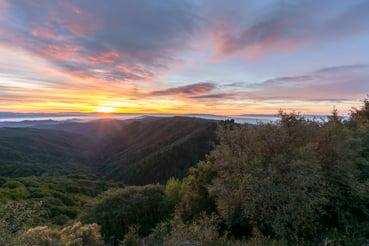 View of Santa Cruz Mountains