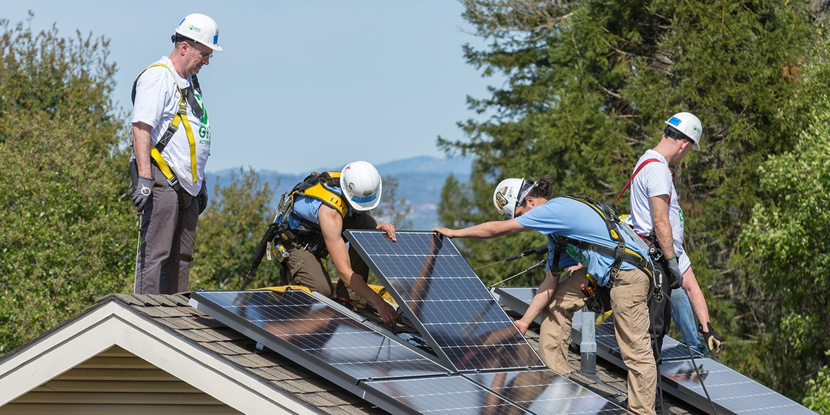 A day with GRID Alternatives: Enphase leadership gets on the roof to install solar