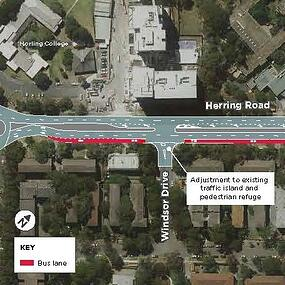 New Bus Lane on Herring Road-604967-edited