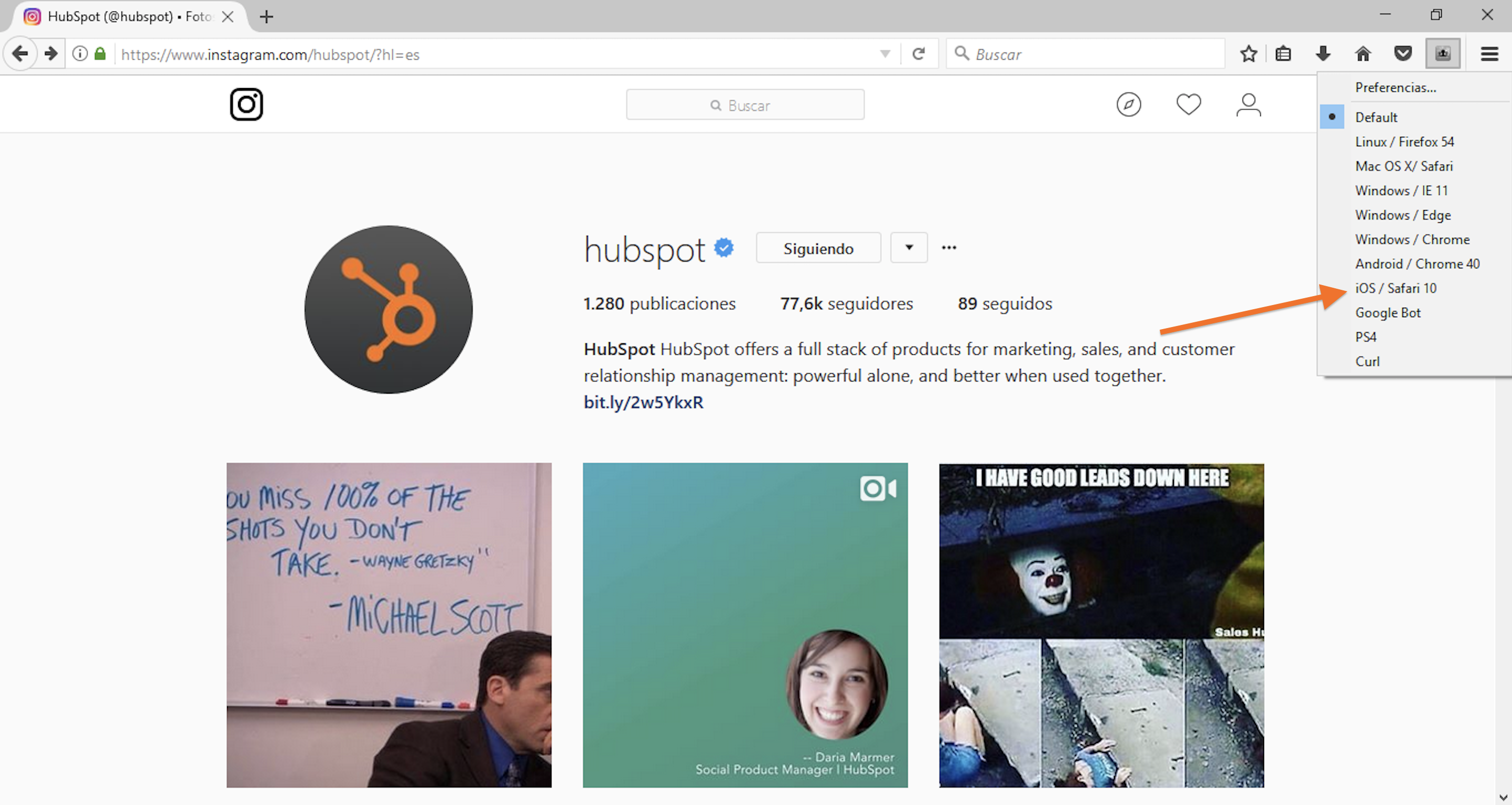 como subir fotos a instagram pc