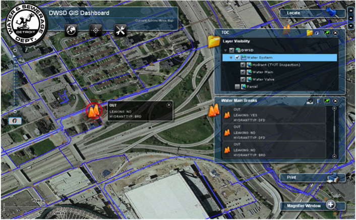 Web Based GIS Operation Dashboard