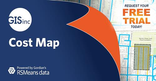 Geographic Information Service, Inc. Provides Free Access to the Cost Map for Water Utilities Demo Site, Powered by RSMeans Data by Gordian and the Esri ArcGIS Platform