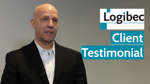 Shawn Bell, man in black and white suit - Logibeck client testimonial