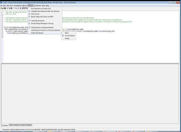 runSQL-Script-option